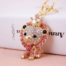 nice key rings images High grade cute lion car key chain ring beautiful gift fashion jpg
