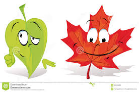 leaves cartoon characters stock image image 26649651