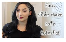 half shaved with braids faux side shave hair tutorial youtube