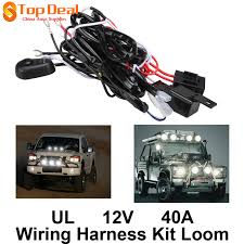 universal 12v 40a motorcycle fog light wiring harness kit loom for