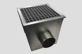 canap de sol siphon de sol en acier inox de terrasse avec grille avec canal