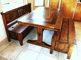 Bench Style Dining Room Tables Dining Tables With Benches With Backs 137 Nice Furniture On Dining