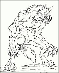 halloween werewolf coloring pages contegri com