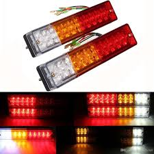 stop sign with led lights 2x 20 led car truck led trailer tail lights turn signal reverse