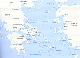 Map Of Ancient Greece And The Aegean World by Ancient Greece Lessons Tes Teach