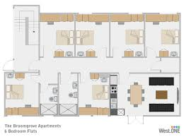 6 bedroom floor plans student accommodation sheffield 6 bedroom apartment at broomgrove