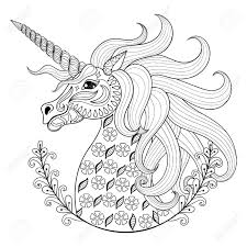 coloring pages of unicorns and fairies hand drawing unicorn for adult anti stress coloring pages artistic