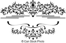 clipart vector of decorative ornament border frame black