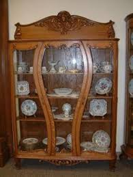 antique french rosewood and oak bevelled glass bookcase display