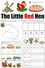 red hen activities free printables