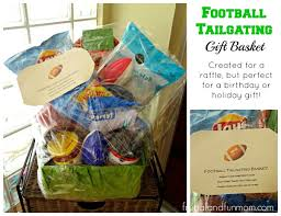 gift basket ideas for raffle football themed gift basket idea for tailgating made with