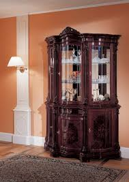 funiture traditional dark brown mahogany wooden cabinet and