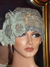 lace headwear flapper hat cloche church daytime 1920 style personalized lace