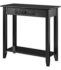 american heritage leather sofa amazon com convenience concepts american heritage console table