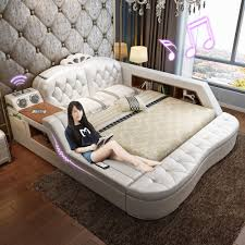 Modern Beds With Storage Usd 683 42 Massaging Leather Bed Tatami Bed Leather Art Bed