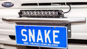 Led Vehicle Light Bar led light bar number plate mount kit snake racing youtube