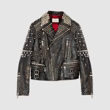 mens leather motorcycle vest studded leather biker jacket gucci men u0027s bombers u0026 leather