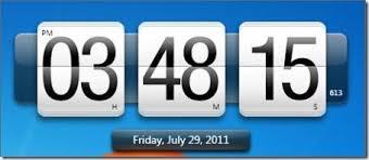 horloge sur bureau windows horloge numérique gratuite