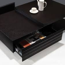 finish modern wood coffee table w drawers u0026 options