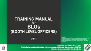 training manual for blos booth level officers ppt ppt download