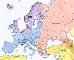 a map of europe with countries cultural political maps of europe europe guide eupedia