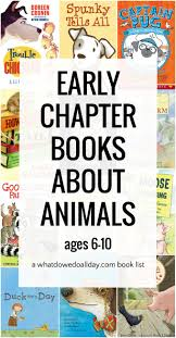 best early chapter books for kids animals