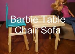 super easy barbie doll furniture craft popsicle sticks for kids