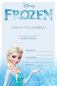 Birthday Invitation Cards Models Frozen Birthday Invitations Neepic Com