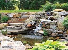small backyard pond ideas hanging deck chairs building backyard pond back yard pond design