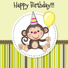 vector cartoon monkey birthday cards vector cartoon monkey