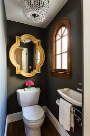 Small Powder Room Vanities - powder room mirror ideas powder room contemporary with black wall