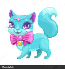 cute cartoon beautiful princess cat u2014 stock vector lilu330