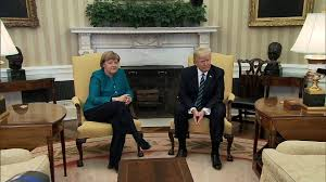 Oval Office Over The Years by No Oval Office Handshake Takes Place Between Trump Merkel Ktla