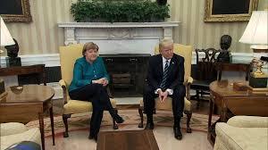 no oval office handshake takes place between trump merkel ktla