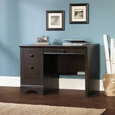 White Computer Desk With Hutch by Sauder Harbor View Computer Desk With Hutch Antiqued White
