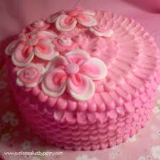 decorating birthday cake with buttercream icing image