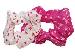 hair bobbles white pink print scrunchie hair bobbles buy 1 get 1 free
