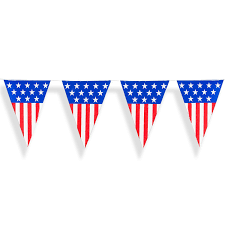 Safety Pennant Flags Amazon Com 24 Foot Long American Usa Flag Pattern Plastic Pennant