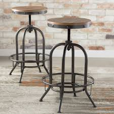 Adjustable Height Bar Table Trent Design Empire Adjustable Height Swivel Bar Stool