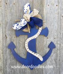 Nautical Decoration by Wooden Anchor Door Hanger Wall Decoration Nautical Decor Beach