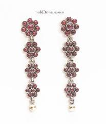 kempu earrings the alpa silver kempu earrings oxidised buy ethnic jewellery