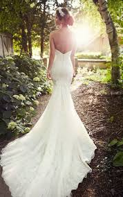 backless lace wedding dresses backless lace wedding dress essense of australia
