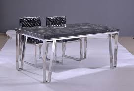 marble and stainless steel dining table stainless steel dining table with chairs and marble countertop