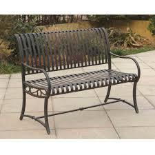 outdoor ft metal garden bench bronze highlights over antique
