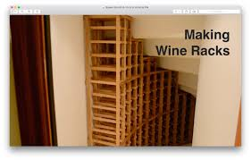 how to build a wine rack in a cabinet making wine racks youtube