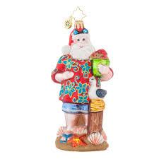 radko 1017861 summertime dreams santa in hawaiian shirt at the