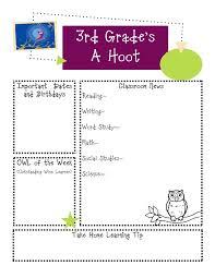 18 best newsletter templates images on pinterest owl newsletter