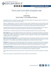 time to leave how to write a resignation letter