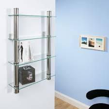 dvd rack shelf storage glass bookcase wall mounted ebay