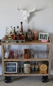 home style bar cart setup styled by kasey